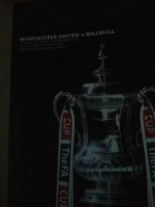 Manchester United Versus Millwall F A Cup Final Programme 2004
