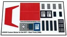 Transparent Custom Sticker for Lego ® Model Team set 5571 - Giant Truck (1996)