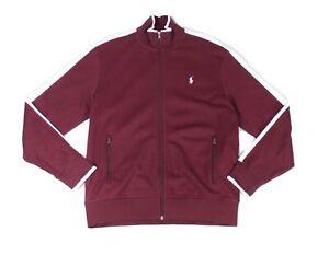 Polo Ralph Lauren Mens Jacket Red Size Large L Interlock Zip Track $98- #138