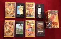 "Indiana Jones Trilogy VHS Set With Rare Extras ""Raiders"" ""Doom"" ""Crusade"""