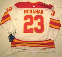 SEAN MONAHAN size 56 = XXL - 2019 Heritage Classic Calgary Flames Adidas Jersey