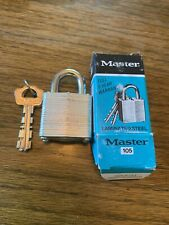 Master Lock No.105 With (2) Keys In Box ~ New old stock ~ 048