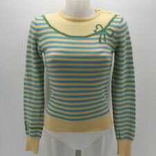 Marc Jacobs Yellow & Blue Striped Sweater Size Small