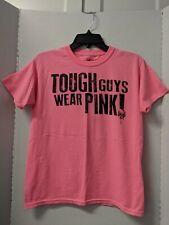 Breast Cancer Awareness Tough Guys Wear Pink Tee Shirt Boys XXL 18 20