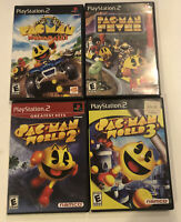 PLaystation 2 PSP2 Pac Man Game Lot Of 4 World Rally Fever World 2 & 3
