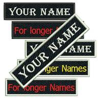 "Custom Embroidered Patch Biker Motorcycle Badge Name Tag Vest Personalized 4""3/4"