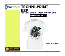 Techni Print Ezp Laser Heat Transfer Paper For Light Colors 85 X 11 50 Sheets