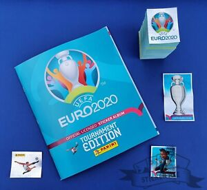 PANINI, Euro 2020 Tournament Edition, complete loose sticker set + empty album
