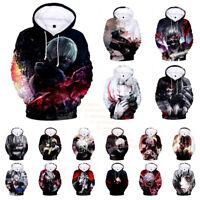 Women's Men's Tokyo Ghoul 3D Print Anime Hoodies Sweatshirt Pullover Hoodie