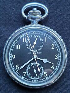 Hamilton Chronograph Model 23 16s 19 Jewel Pocket Watch circa 1942