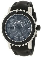 Fortis Men's 675.10.81 L.01 B-42 Big Black Automatic Black Leather Date Watch