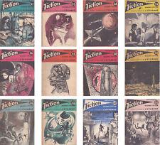 Revue Fiction 1958 12 n° 50 à 61 Opta Éditions