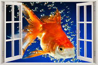 HUGE 3D Window FISH Nursery ANIMAL KIDS Decor Art Mural View Decal WALL STICKER
