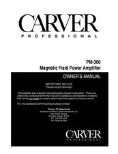 Carver PM-300 Amplifier Owners Manual