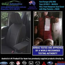Ford Ranger PX MkI Front and Rear Neoprene Car Seat Covers XL XLS XLT WILDTRAK