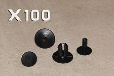 100pcs 8mm SUBARU CARS Plastic Clips Rivets Interior Trim Panels, Carpet&Linings