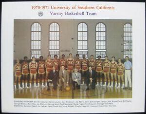 1970 USC Varsity Basketball Team Photo Southern California Trojans Paul Westphal