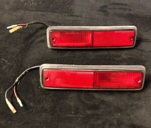 1982-83 Honda Accord OEM REAR Bumper Reflector Lights Lamps STOCK 4 Door