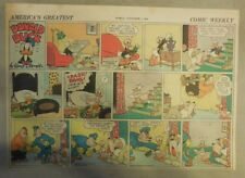 Donald Duck Sunday Page by Walt Disney from 11/1/1942 Half Page Size