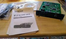 Tascam IF-FW/DM MKll Firewire Option Card for DM Series Digital Mixers TEAC