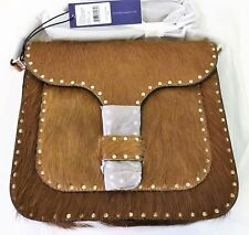 NWT ORG $395 REBECCA MINKOFF HAIRCALF MIDNIGHTER LARGE MESSENGER CROSSBODY 010