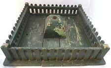 Antiker Zaun Christbaumständer Erzgebirge Paradiesgarten Holz grün orign. Farbe