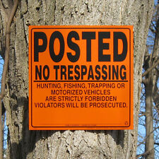 Lot of 200 POSTED No Trespassing Hunting Fishing Signs