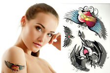 New Waterproof Colorful Removable Temporary Tattoo DIY 3D Feather Sticker