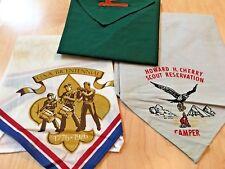 Three   Vintage  Scouting  Scarfs