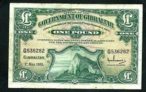 Gibraltar (P18a) 1 Pound 1965