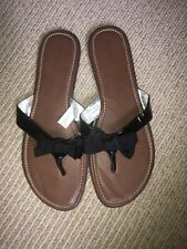 0569a91b0e37 Women s Size 10 Merona Black Slip On Flat Thong Sandals