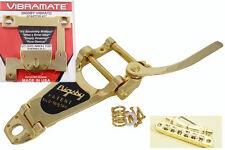 Gold Bigsby B7 Tremolo Vibramate V7335G Tonepros roller bridge Fits Gibson ES335