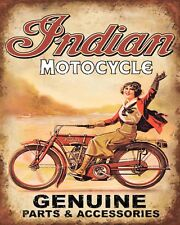 10 x 8 INDIAN AMERICAN MOTORCYCLE MOTORBIKE METAL PLAQUE SIGN OTHERS LISTED N365