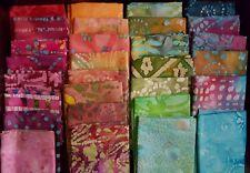 Lot of 25 fat quarters, No Duplicates, 100% BATIK Cotton Quilting Fabric,