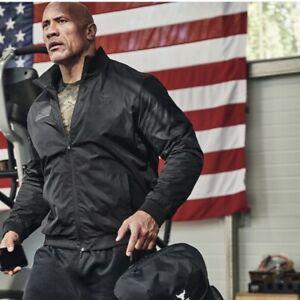 Under Armour Men's Project Rock Veteran's Day Full-Zip Jacket Black S M L XL XXL