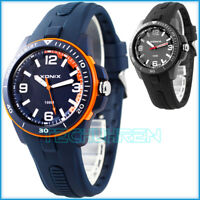 Sportliche analoge XONIX Armbanduhr für Herren und Teenager nickelfrei WR100m