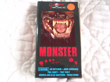 MONSTER VHS MONSTROID JIM JAMES MITCHUM JOHN CARRADINE HORROR GENESIS VIDEO