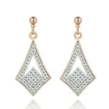 Narlino gold swarovski crystal hanging earrings