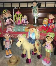 Lot #4 of Groovy Girls Dolls~Horse~Bird Cage~Mini Dolls~Cowgirl~Clothing~Hats~EC