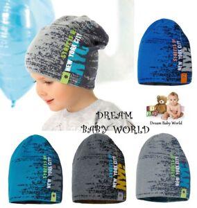 BEANIE baby boys hat spring autumn Knitted BOY KIDS 12-24 months CHILDREN CAP