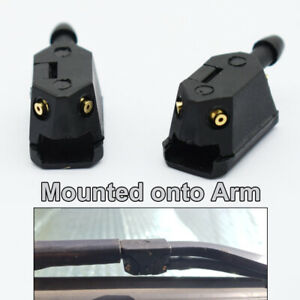 x2 Universal Front Wiper Blade Arm Washer Nozzle 4 WayJets Fits Wiper Systems