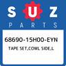 68690-15H00-EYN Suzuki Tape set,cowl side,l 6869015H00EYN, New Genuine OEM Part
