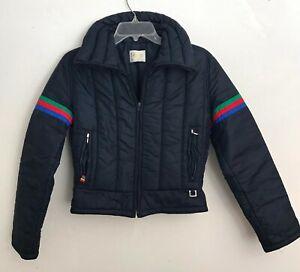 Vintage Roffe Retro 70s Women's Winter Ski Jacket Size Small Cropped Style Good