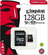 128GB Kingston Canvas Select MicroSDXC Memory Card UHS-I U1 Class 10 Inc Adapter