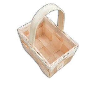 Basket woven pine B4 with handle hand-made