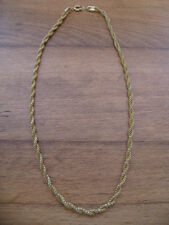 """GOLD TONE TWISTED CHAIN 16 1/2"""" - #10"""