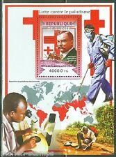 GUINEA 2015 BATTLE AGAINST MALARIA  RED CROSS RONALD ROSS SOUVENIR SHEET MINT NH