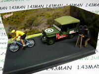 NB6E IXO 1/43 diorama route bleue RN7 JEEP Willys MB course cycliste, vélo
