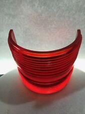 """Red Fresnel Glass Lens Vintage Marine Navigation Red Fresnel Lens 7 3/8"""" High"""
