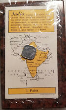 1966 INDIA 1 PAISA COIN - UNCIRCULATED - ORIGINAL SEALED PACKAGING - #3041